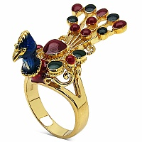 10.80 Grams Gold Plated .925 Sterling Silver Multicolor Enamel