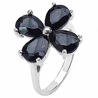4.80 Grams Genuine Sapphire .925 Sterling Silver Ring