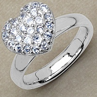5.20 Grams White Cubic Zirconia .925 Sterling Silver Ring