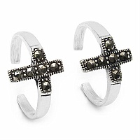 3.00 Grams Marcasite .925 Sterling Silver Toe Rings