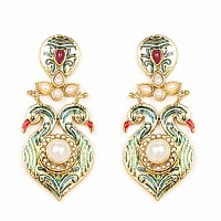 Rajasthani Jewellery 29.82 Grams Red Stone & White Synthetic