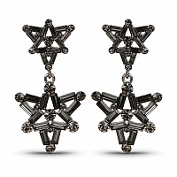Designer Trillion Star Dangle Earrings for Women Embedded wi