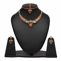 Rajasthani Jewellery 32.60 Grams Multistone Gold Plated Neck