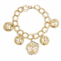 Chunky White Color Stone Floral Shape Bracelet For Women