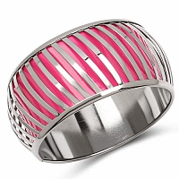 Pink And Silver Toned Incredible Bangle For Women