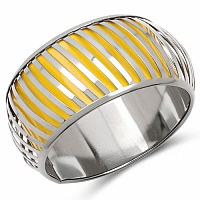 Yellow And Silver Toned Incredible Bangle For Women
