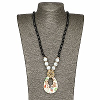 Gold Plated Tribal Style White Fashion Necklace For Women