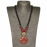 Gold Plated Tribal Style Brown Fashion Necklace For Women
