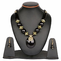 20.00 Inches Long Plain Metal Gold Plated Necklace Set