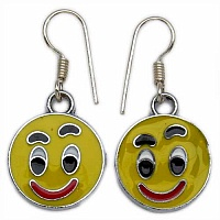 5.40 Grams Yellow, Red, Black & White Enamel Smile Face Shap