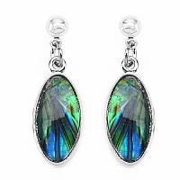 3.53 Grams Mother Of Pearl Oval Shape Earrings