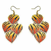 4.91 Grams Gold Plated Heart Shape Multicolored Enamel Plain