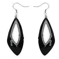 Enamelour Black Enamel Earrings