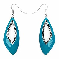 Enamelour Sky Blue Enamel Earrings