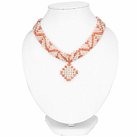 Statement Style Orange Beaded White Pearl Fashion Choker Nec