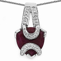 5.75CTW 13.00mm Trillion Shape Dyed Ruby .925 Sterling Silve