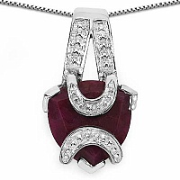 7.25CTW 15.00mm Trillion Shape Dyed Ruby .925 Sterling Silve