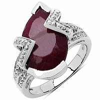2.45CTW 10x8mm Pear Shape Dyed Ruby .925 Sterling Silver Sol