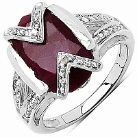 18.10CTW 18x13mm Oval Shape Dyed Ruby .925 Sterling Silver S