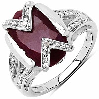 2.90CTW 10x7mm Oval Shape Dyed Ruby .925 Sterling Silver Sol