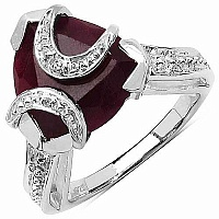 3.50CTW 8.50mm-8.95mm Trillion Shape Dyed Ruby .925 Sterling