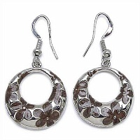 9.40 Grams Brown Enamel Earrings