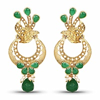 Handmade Gold Plated Multi Gemstone Earrings For Women
