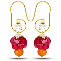 Traditional Designer Pink Pacchi Jhumki Drop Earrings for Wo
