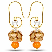 Traditional Designer Yellow Pacchi Jhumki Drop Earrings for