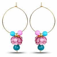 Traditional Designer Red Pacchi Jhumki Hoop Earrings for Wom