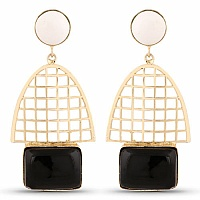 Designer Gold Plated Fashion Multicolor Dangler Earrings for