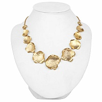 Gold Plated Hammered Handmade Statement Necklace For Women