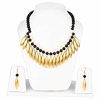 Handmade Gold Plated Multi Stone Statement Necklace Set