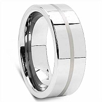 18.20 Grams 8Mm Mens Tungsten Carbide Flat Comfort Fit Weddi