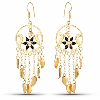 Designer Gold Plated Chandelier Earrings For Women