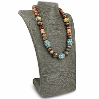 Fashion Statement Multicolour Beaded Gold Plated Necklace fo