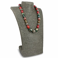 Fashion Statement Multicolour Agate Gold Plated Necklace for
