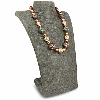 Fashion Statement Gold Plated Pearl Beaded Necklace for Wome