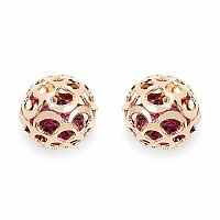 Gleam Touch 6.64 Grams Purple Glass Gold Plated Ball Shape E