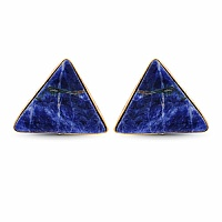 Yellow Rhodium Plated Fashionable Blue Cufflinks Studded wit