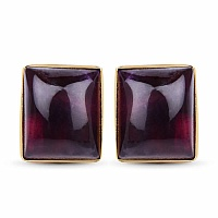 Yellow Rhodium Plated Fashionable Cufflinks Studded with Ame
