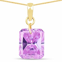 Designer Gold Plated Amethyst Cubic Zirconia Stone Pendant