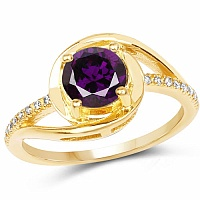 Designer Gold Plated Studded Multi Colour Cubic Zirconia Sto