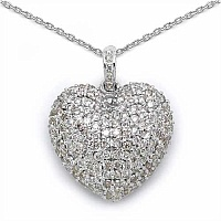 2.19CTW Genuine Diamond 18K White Gold Pendant