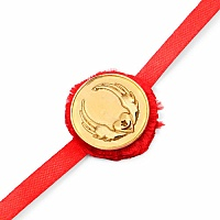 INDIAN TOUCH Gold Plated Brass Sufi Symbol Embossed Coin Rakhi