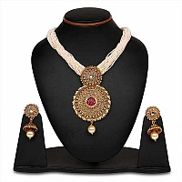 Johareez Multistone Gold Plated   Necklace Set