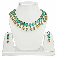 Goldplated Fashion Ethnic Cubic Zirconia Polki Designer Gree