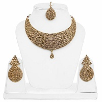 Traditional Choker Goldplated Fashion Ethnic Maangtikka Neck