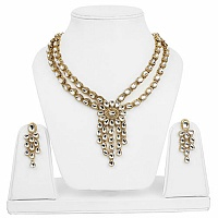 Traditional Ethnic Two Strand Goldplated Cubic Zirconia Polk