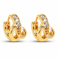 2.20 Grams White Cubic Zirconia Gold Plated Brass Heart Shap
